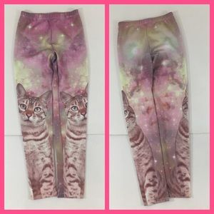 Justice Bottoms - Girls cat cheetah legging pink lace owl Justice 10